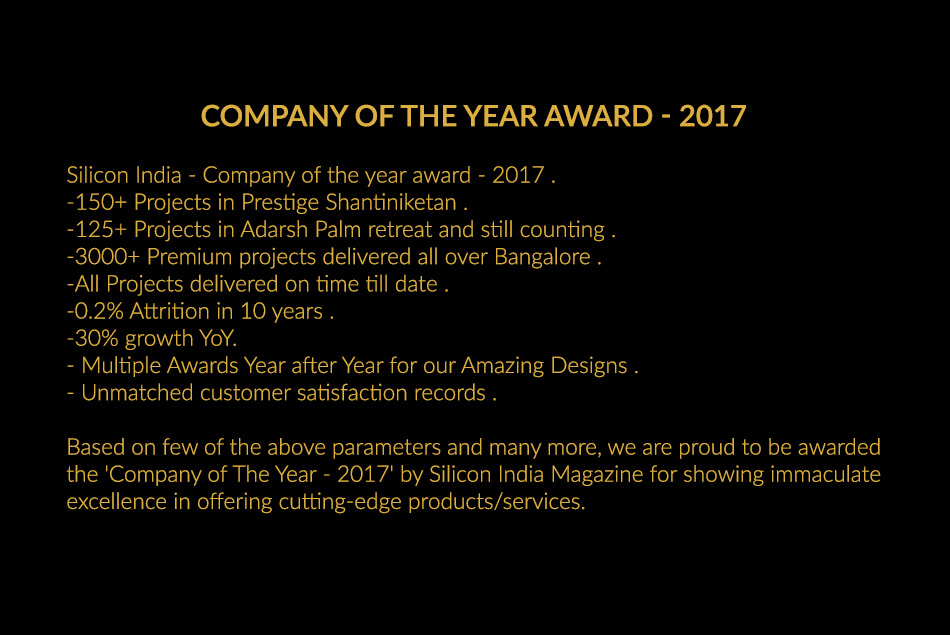 Company of The Year 2017 by Silicon India Magazine