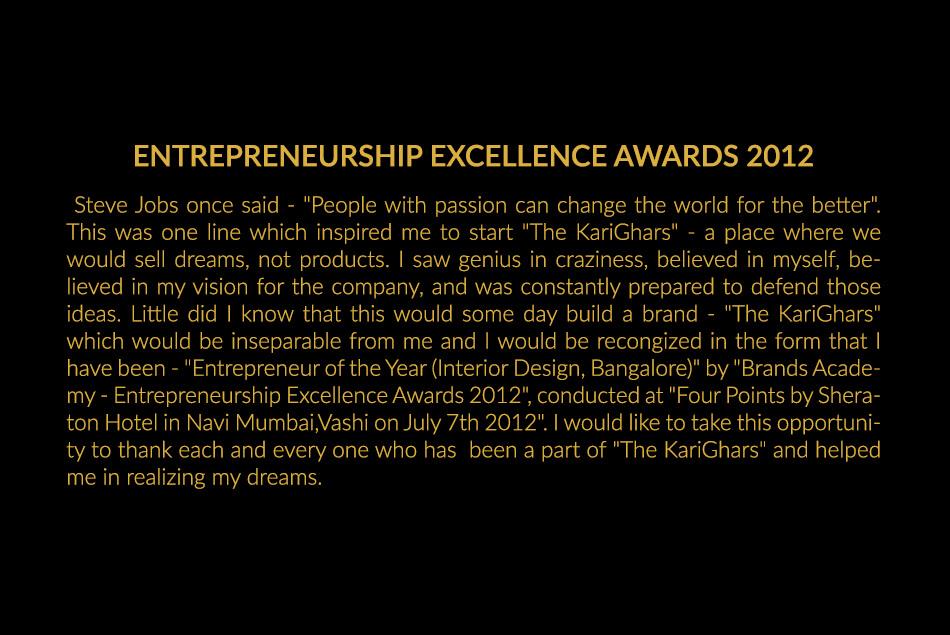 Entrepreneurship Excellence Awards 2012
