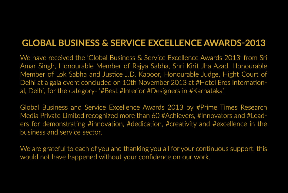 Global Business & Service Excellence Awards 2013
