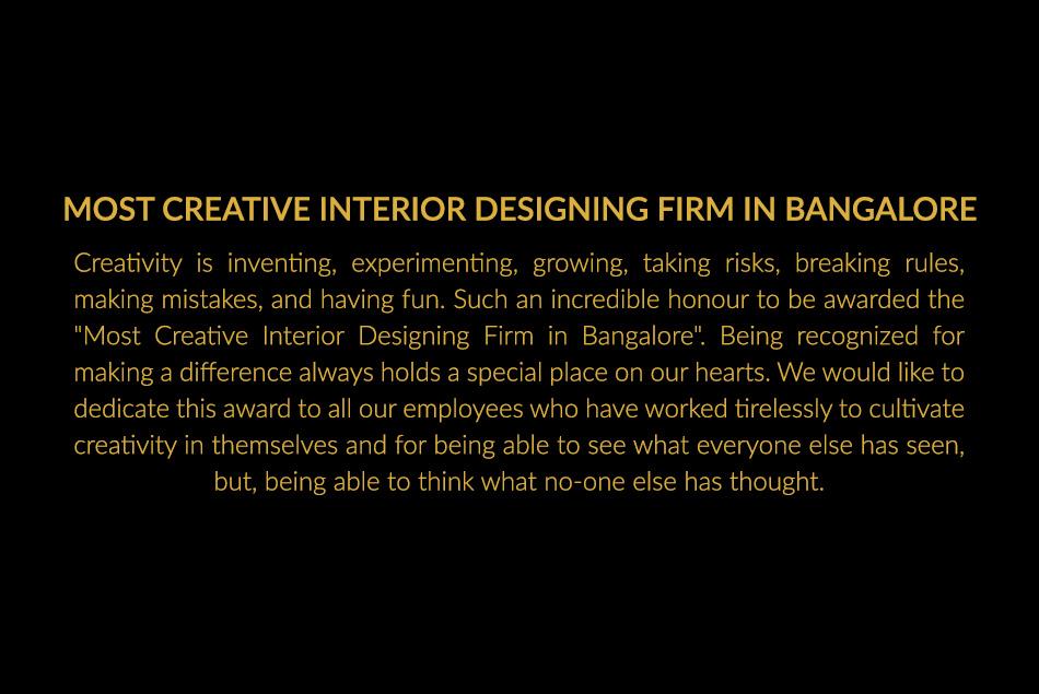 Most Creative Interior Designing Firm In Bangalore